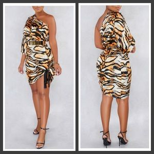 One Sleeve Tiger Dress
